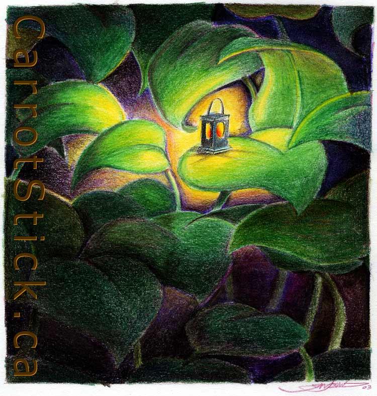 Illustration Portfolio Color Pencil Drawing S Of Latern